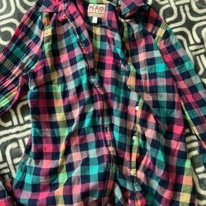 Old navy button up plaid